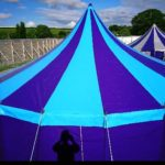 Blue and Purple 30 ft round tent