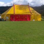 70ft x 40ft (23 x 12m) Blackout Theatre tent