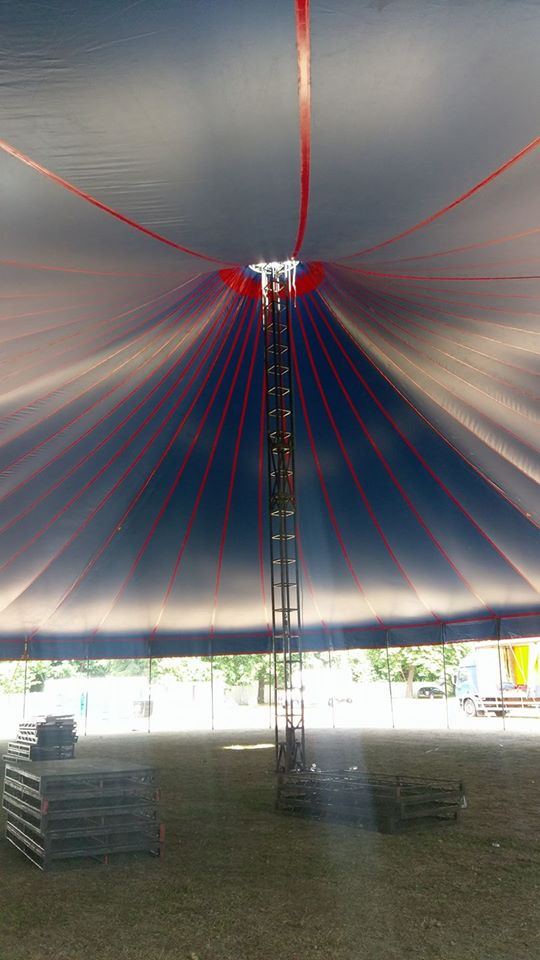 The inside of one of our tents at the Ealing Festival